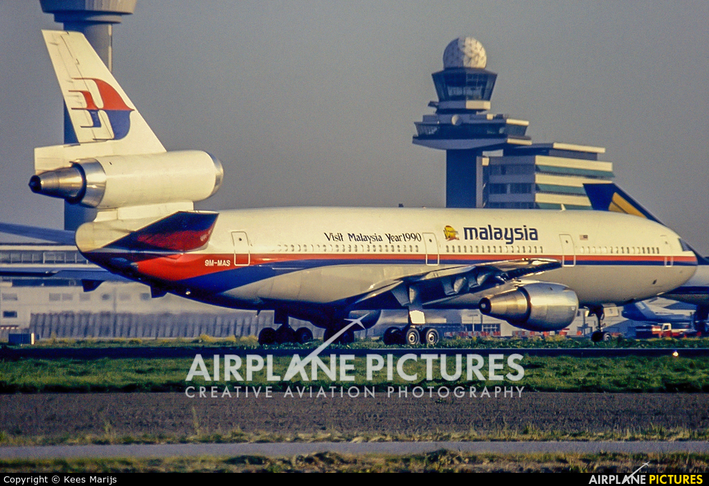 Malaysia Airlines 9M-MAS aircraft at Amsterdam - Schiphol