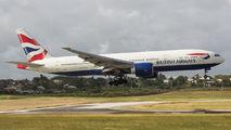 G-VIIV - British Airways Boeing 777-200 aircraft