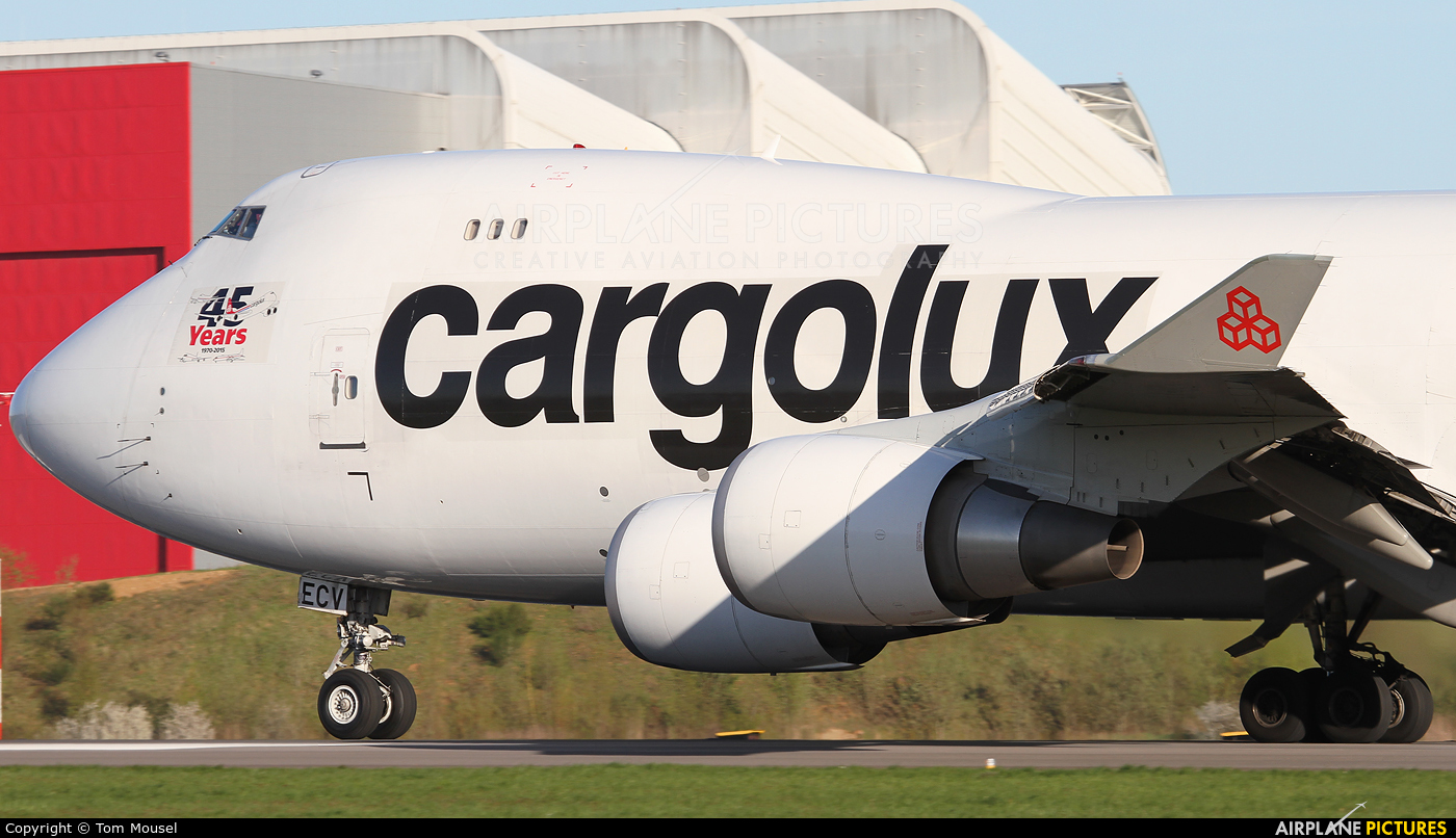 Cargolux LX-ECV aircraft at Luxembourg - Findel