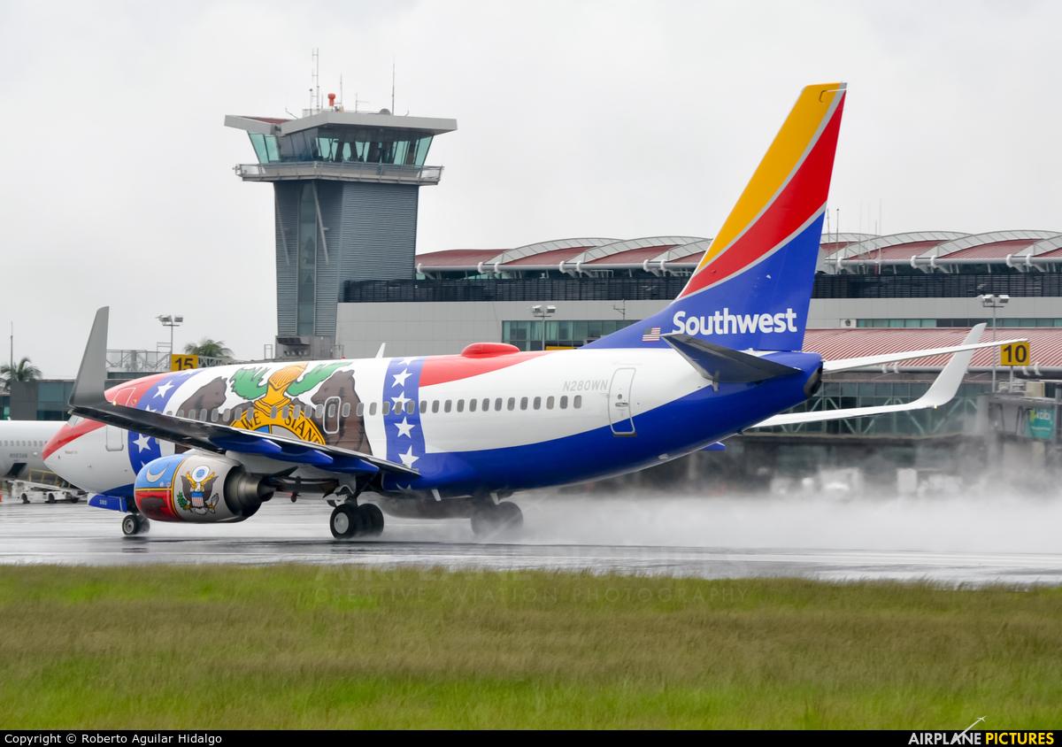 Southwest Airlines N280WN aircraft at San Jose - Juan Santamaría Intl