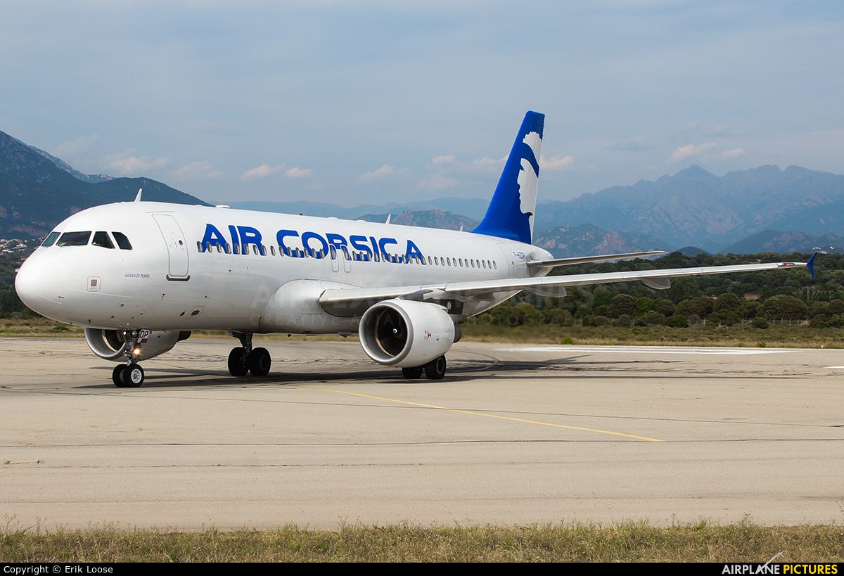 Air Corsica F-HZDP aircraft at Ajaccio - Campo dell