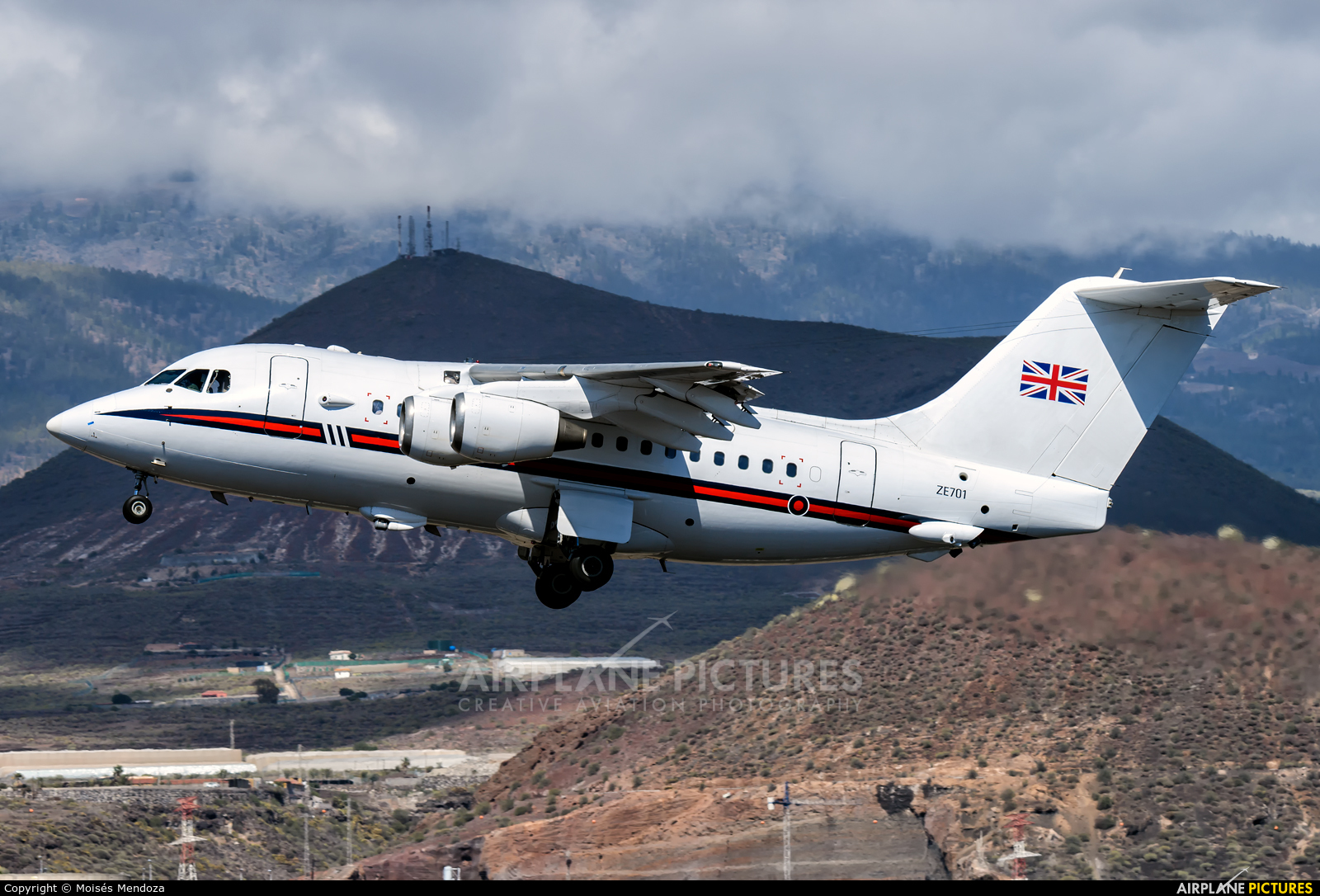 Royal Air Force ZE701 aircraft at Tenerife Sur - Reina Sofia