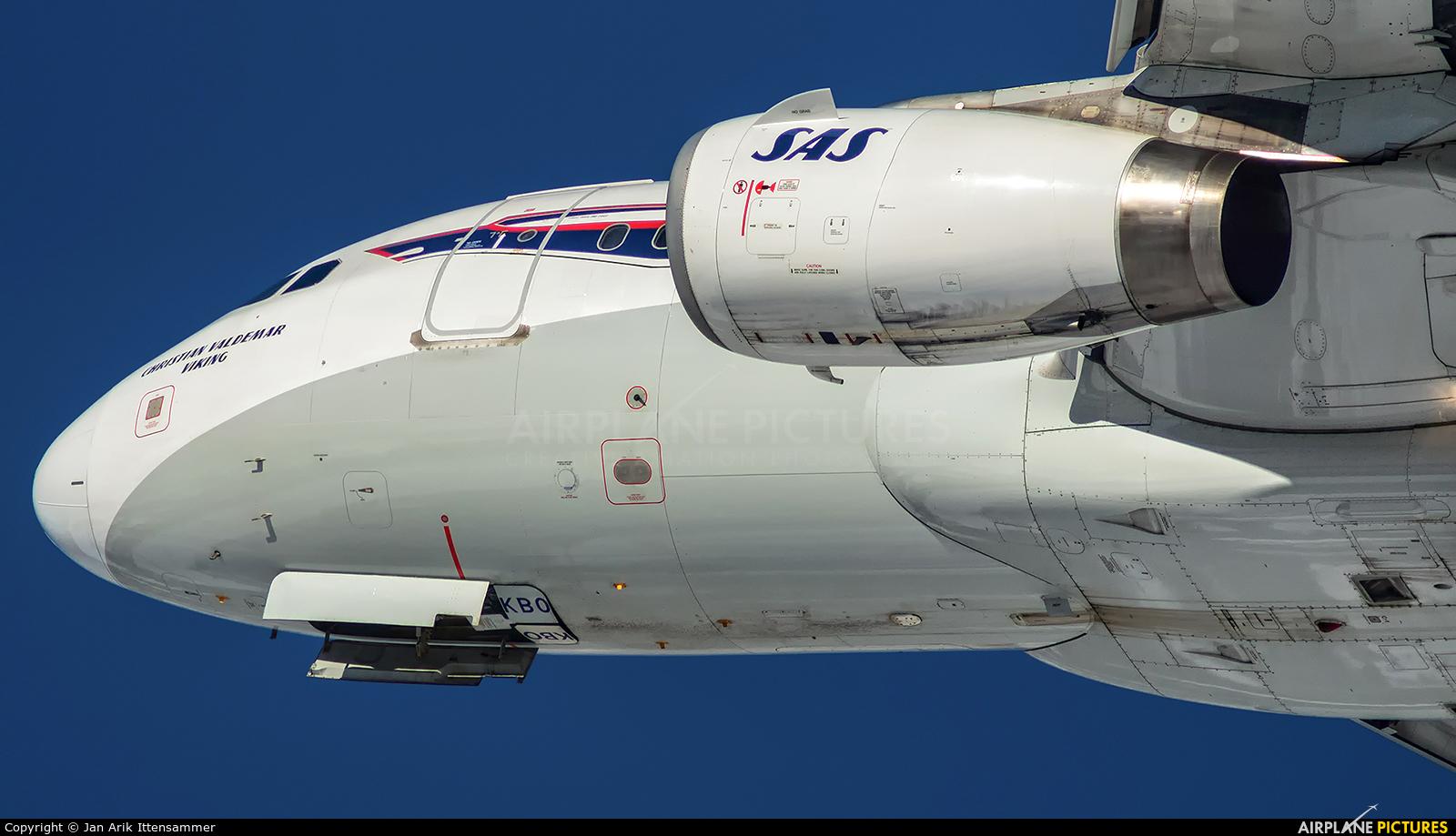 SAS - Scandinavian Airlines OY-KBO aircraft at Innsbruck