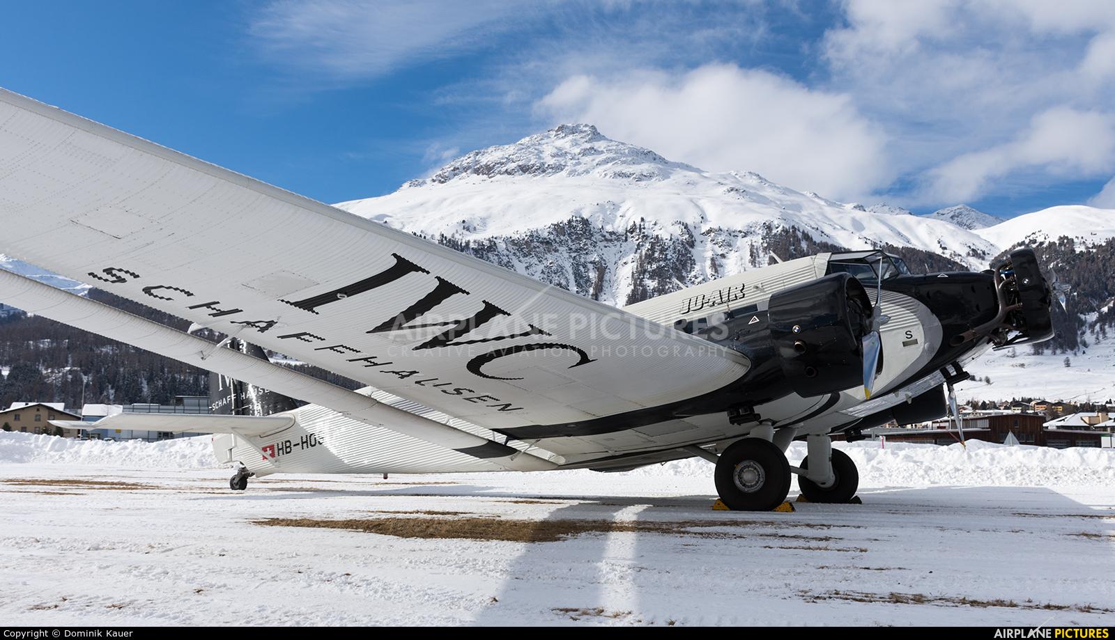 Ju-Air HB-HOS aircraft at Samedan - Engadin