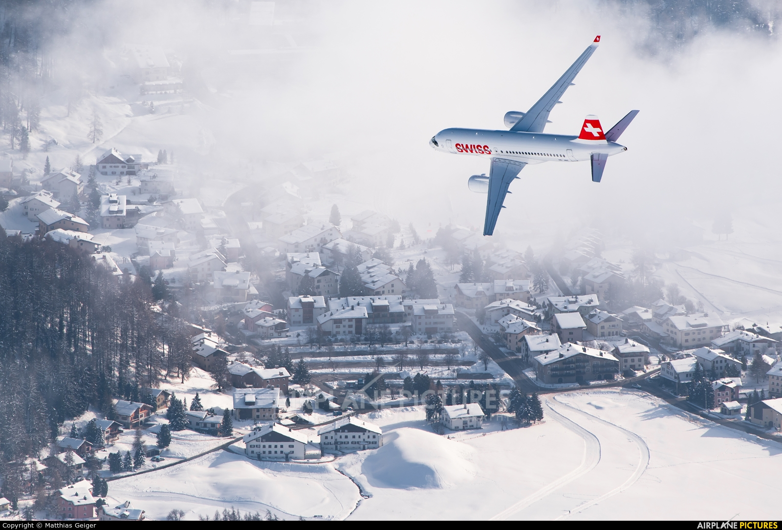 Swiss HB-JBE aircraft at Off Airport - Swiss Alps