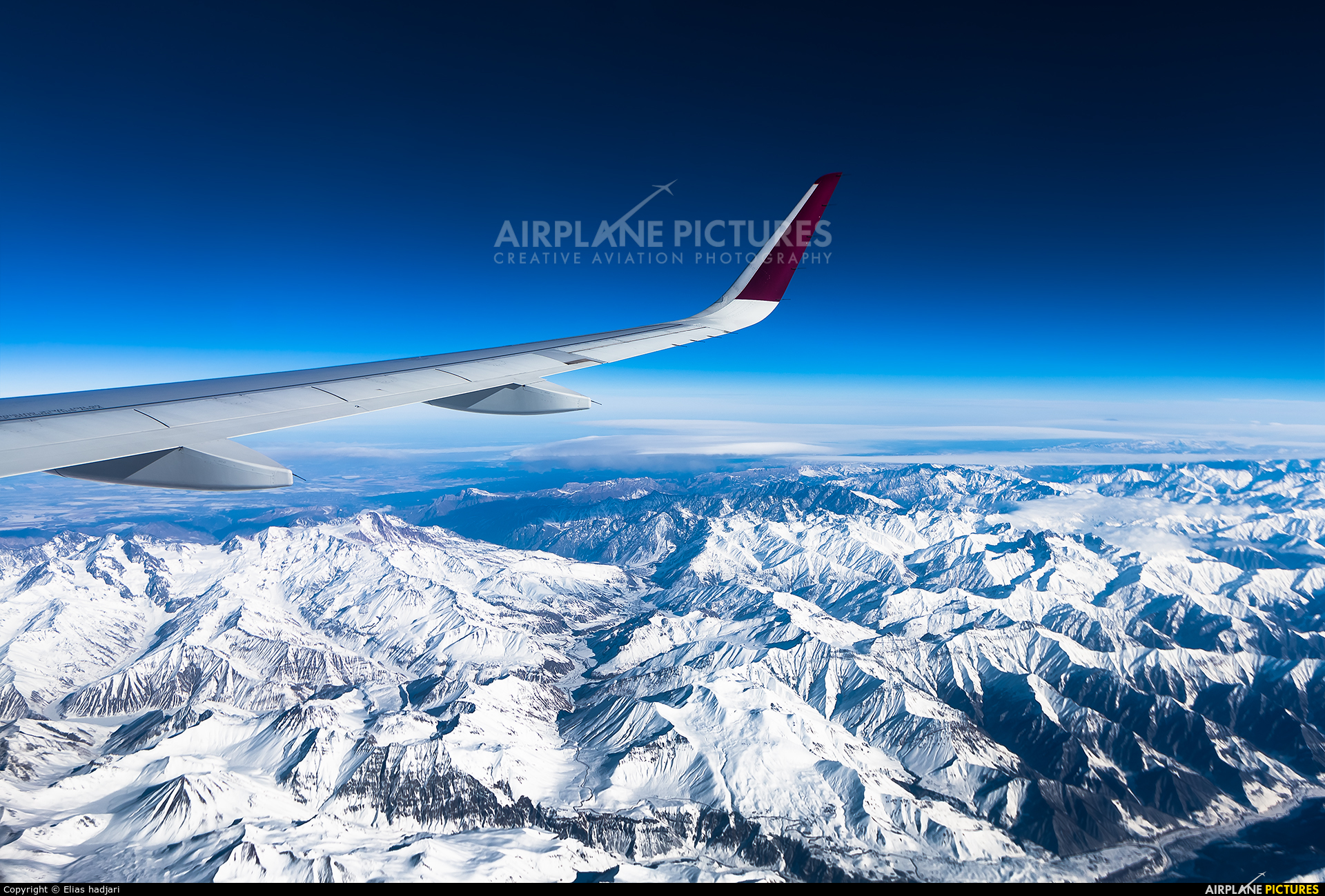 Qatar Airways A7-AHW aircraft at In Flight - Iran