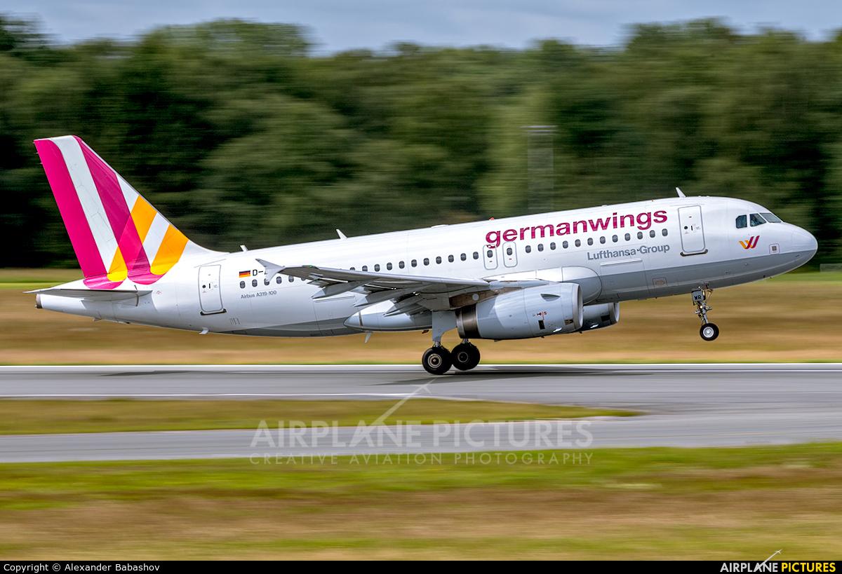 Germanwings D-AGWR aircraft at Hamburg - Fuhlsbüttel