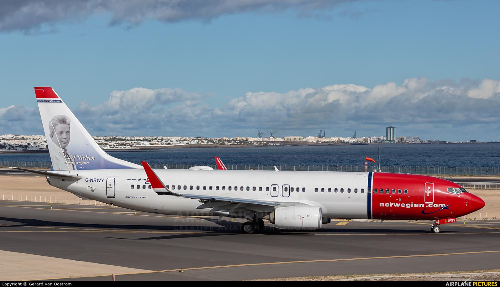 Norwegian Air Shuttle G-NRWY aircraft at Lanzarote - Arrecife