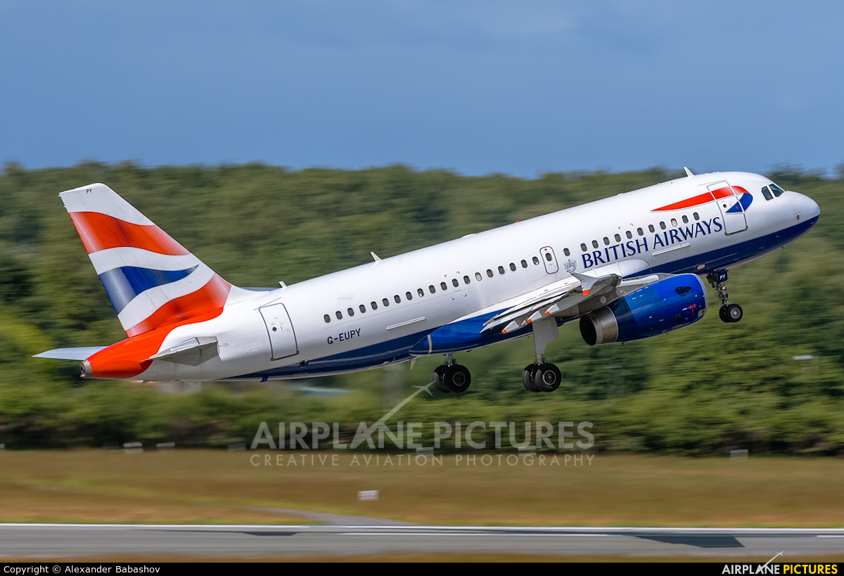 British Airways Airbus A319 G-EUPY