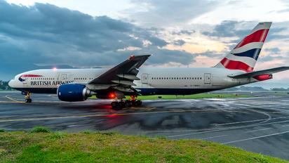 G-YMMR - British Airways Boeing 777-200