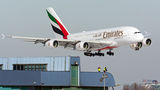 Emirates Airlines Airbus A380 A6-EUK at Warsaw - Frederic Chopin airport