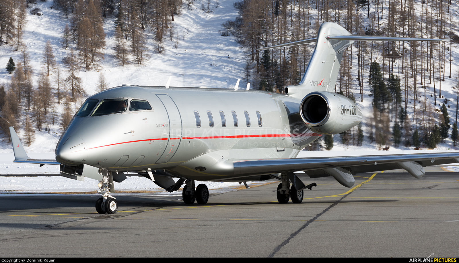 Vistajet 9H-VCD aircraft at Samedan - Engadin