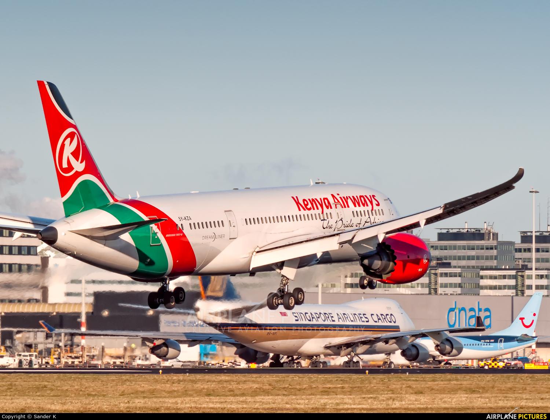 Kenya Airways 5Y-KZA aircraft at Amsterdam - Schiphol