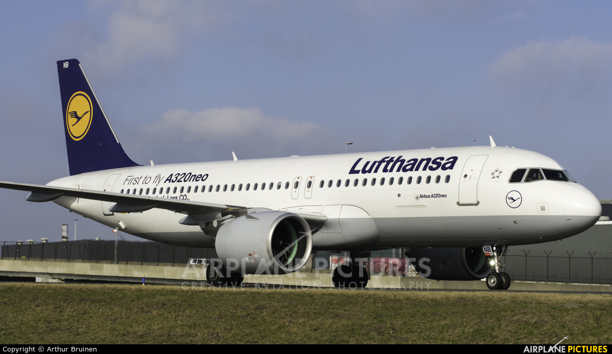 Lufthansa D-AINB aircraft at Amsterdam - Schiphol