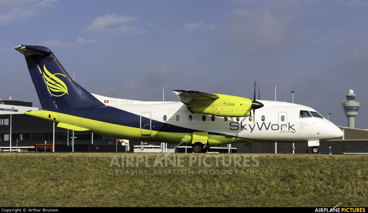 Sky Work Airlines HB-AEO aircraft at Amsterdam - Schiphol
