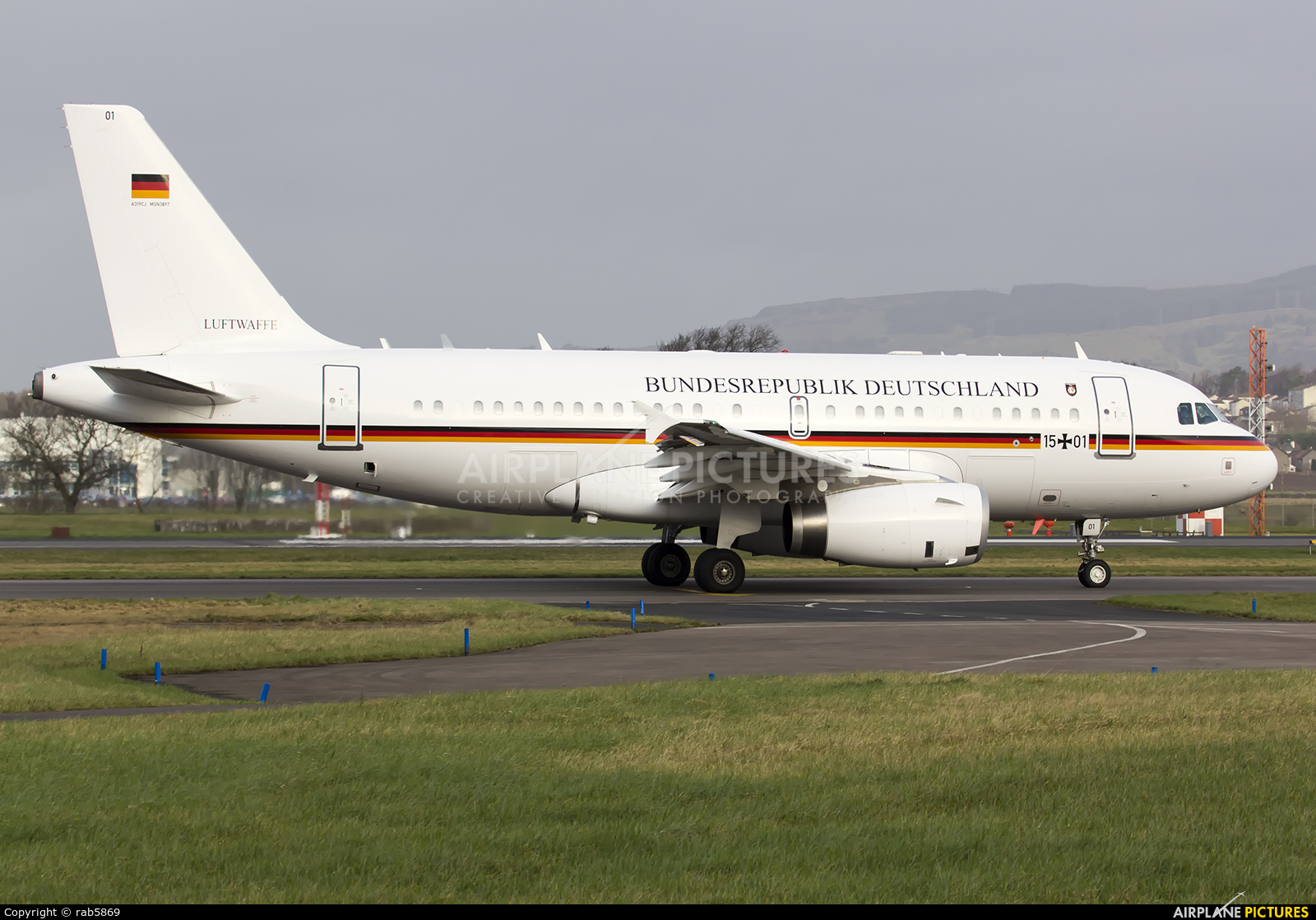 Germany - Air Force 15+01 aircraft at Glasgow