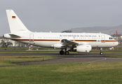 Luftwaffe A319 at Glasgow title=