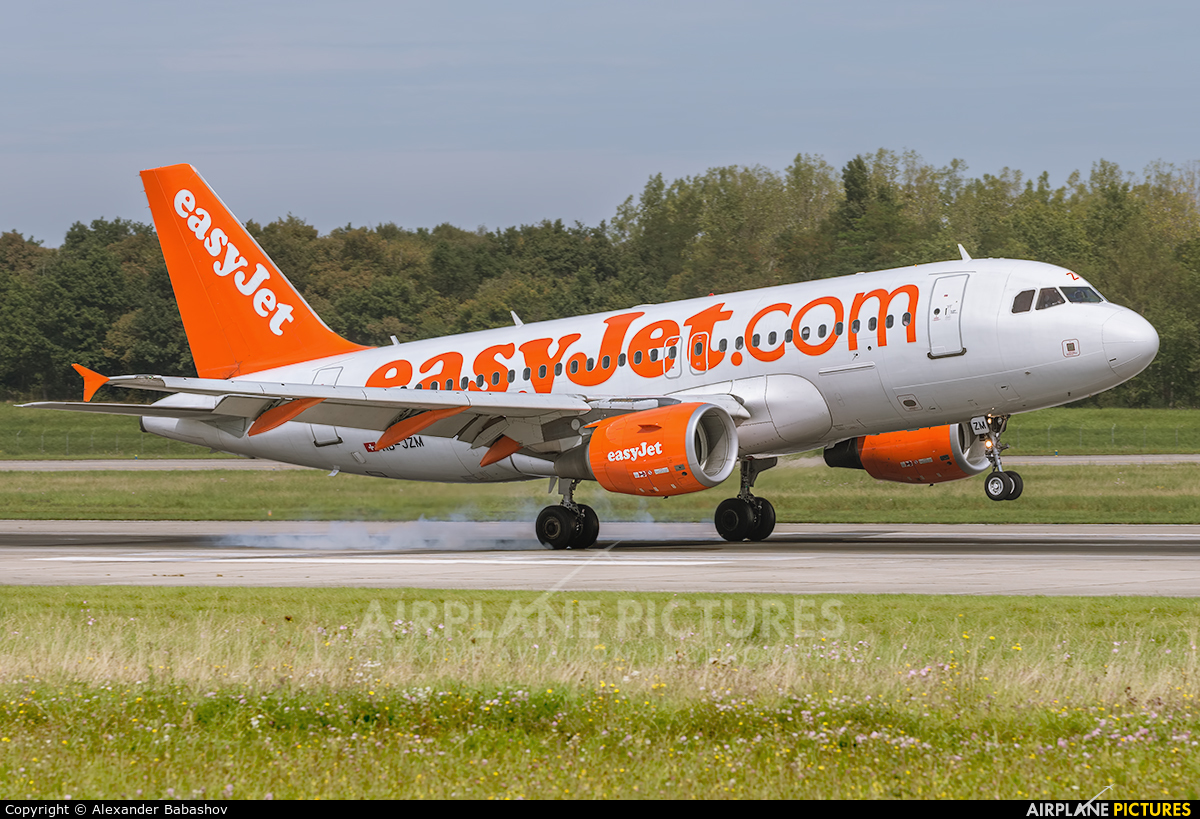 easyJet Switzerland HB-JZM aircraft at Basel - Mulhouse- Euro