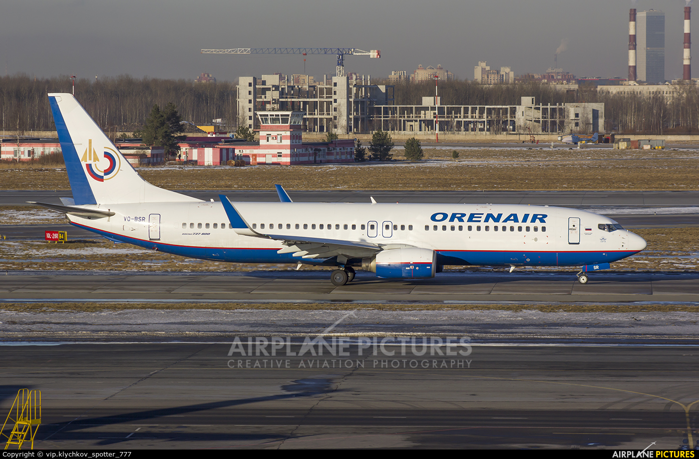 VQ-BSR - Orenair Boeing 737-800 at St  Petersburg - Pulkovo