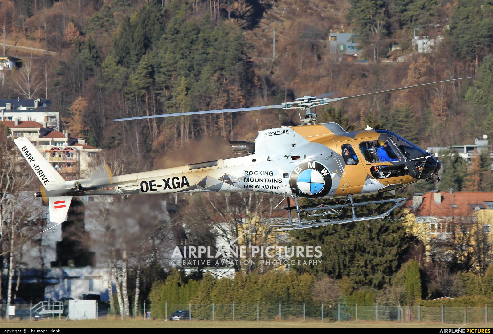Wucher Helicopter OE-XGA aircraft at Innsbruck