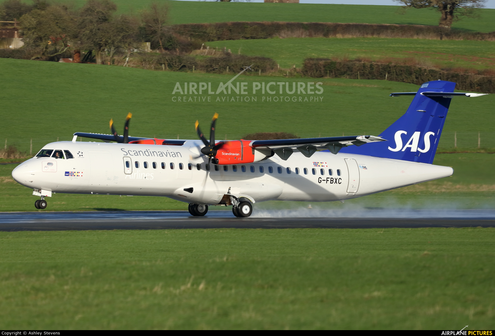 SAS - Scandinavian Airlines (Flybe) G-FBXC aircraft at Exeter