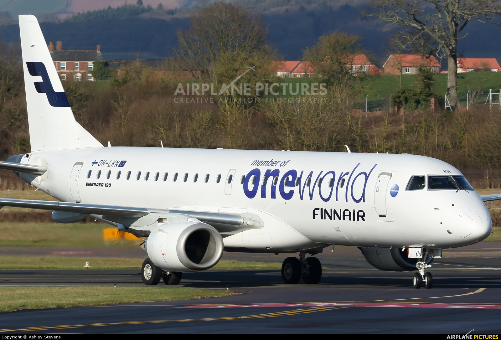 Finnair OH-LKN aircraft at Exeter