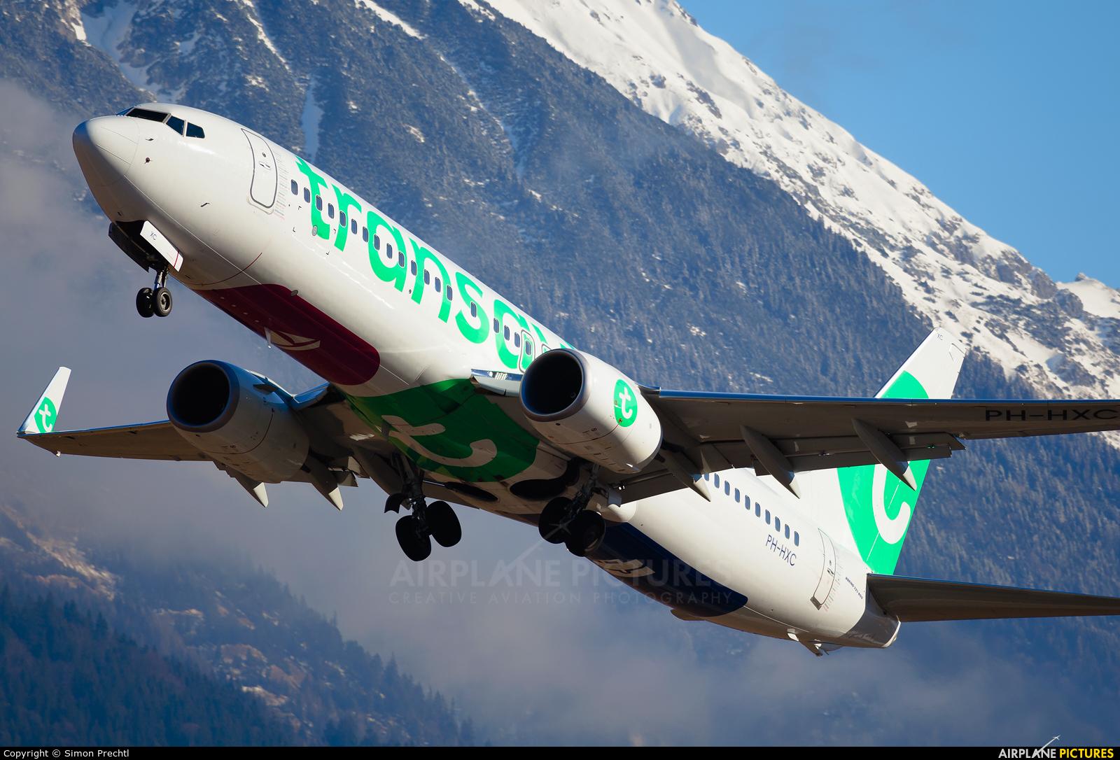 Transavia PH-HXC aircraft at Innsbruck