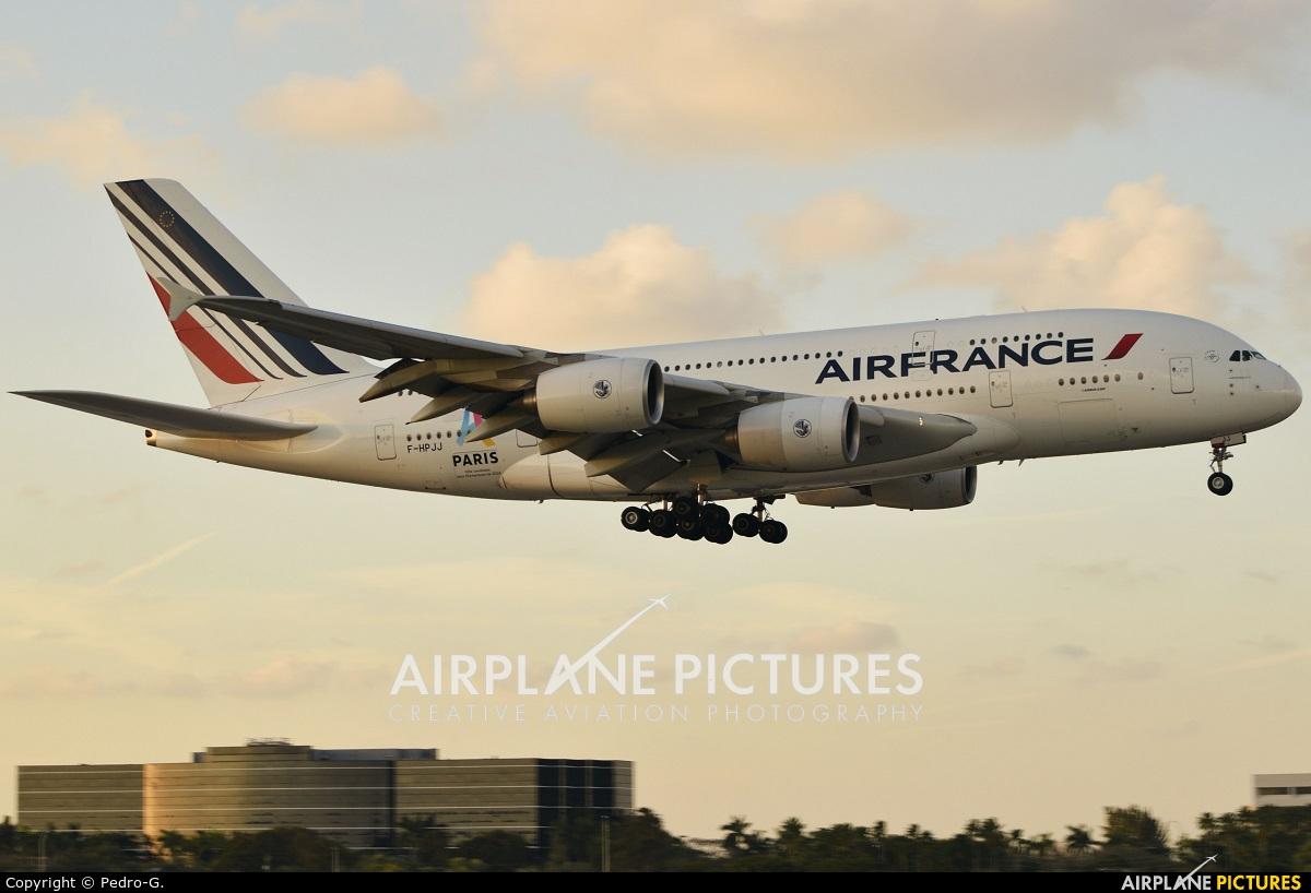 Air France F-HPJJ aircraft at Miami Intl