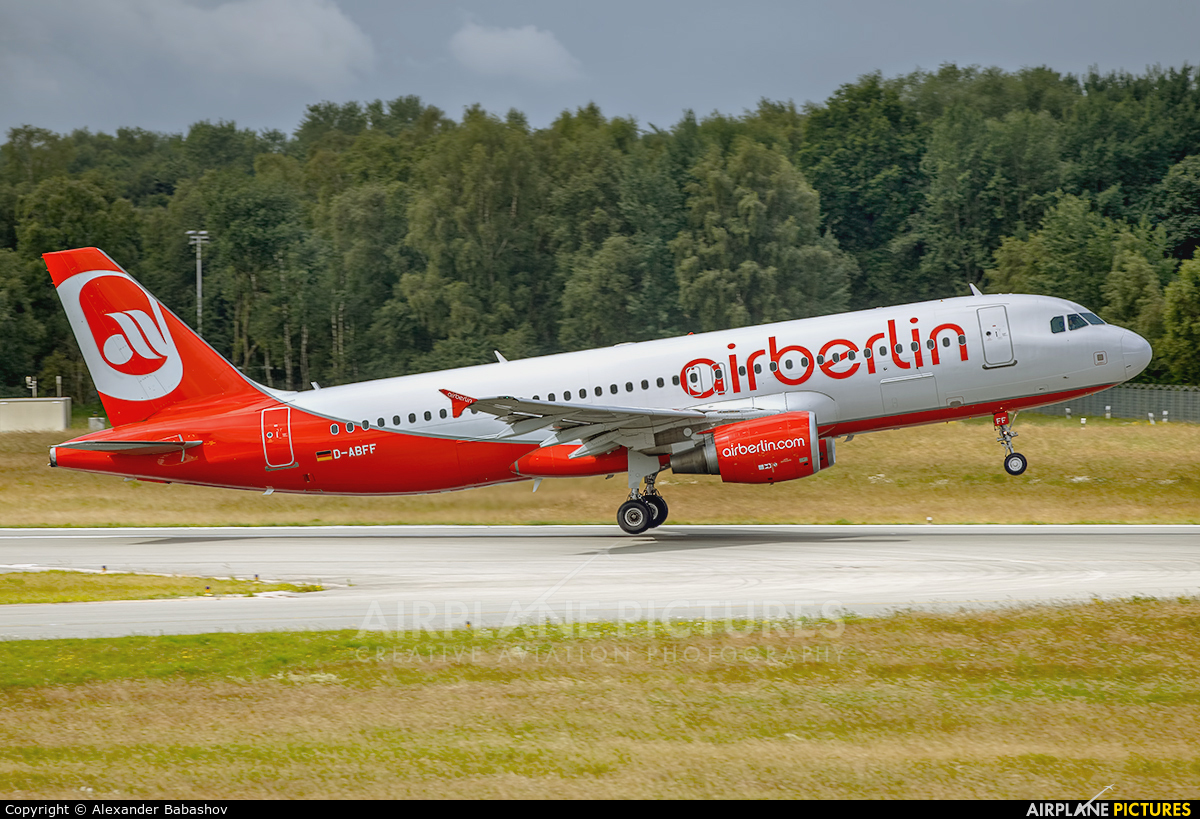Air Berlin D-ABFF aircraft at Basel - Mulhouse- Euro