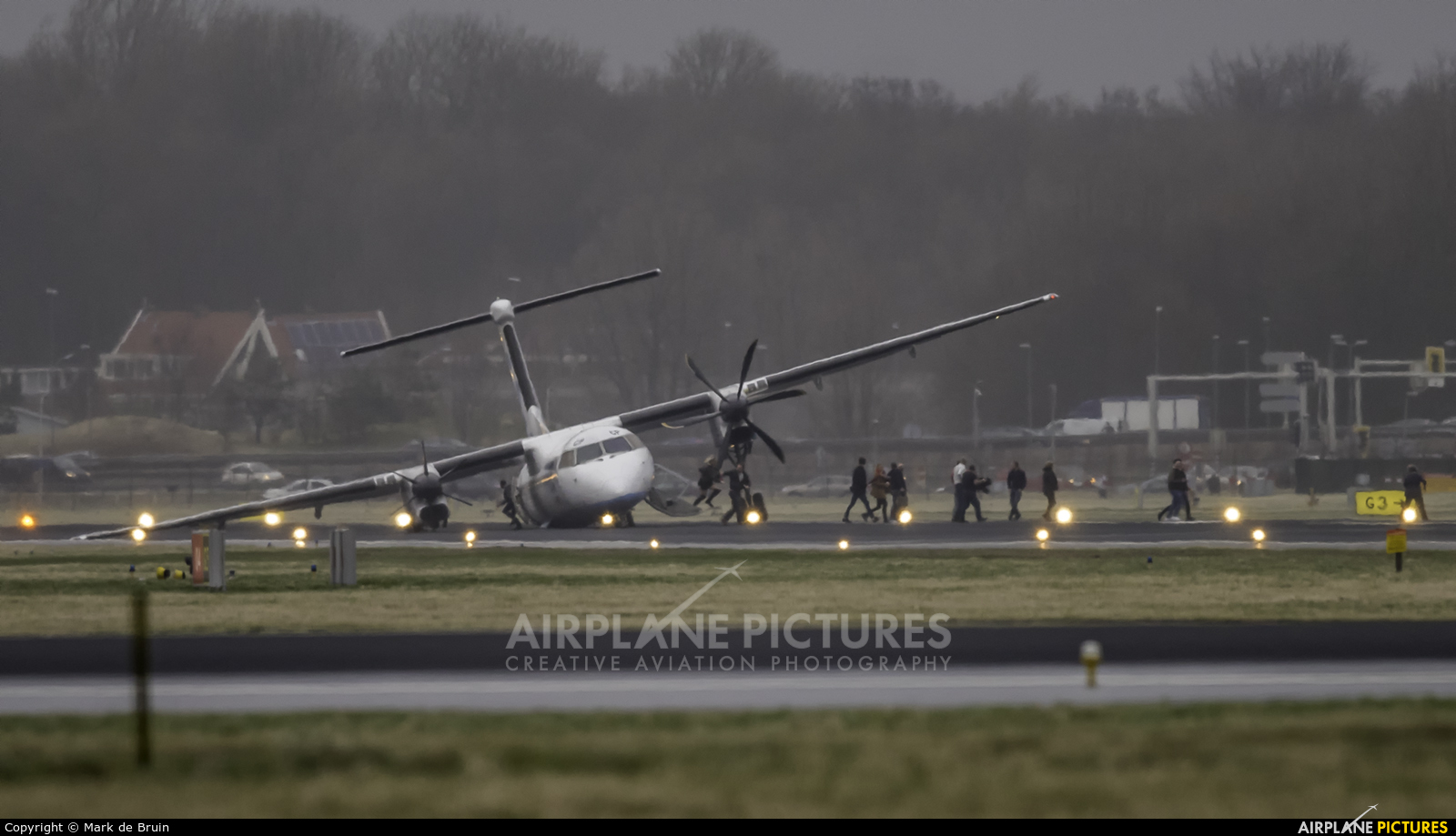 Flybe G-JECP aircraft at Amsterdam - Schiphol