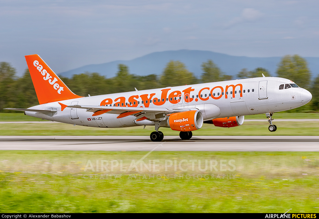 easyJet Switzerland HB-JZY aircraft at Basel - Mulhouse- Euro