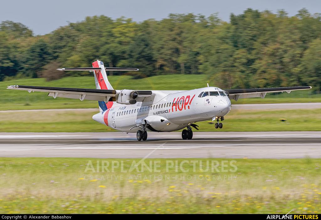 Air France - Hop! F-GVZM aircraft at Basel - Mulhouse- Euro