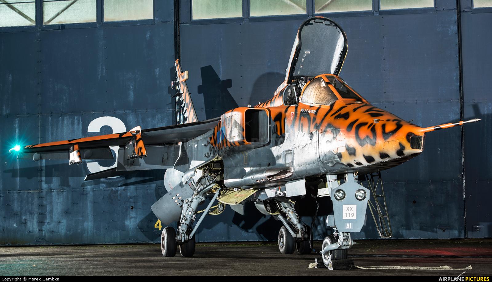 Royal Air Force XX119 aircraft at Cosford