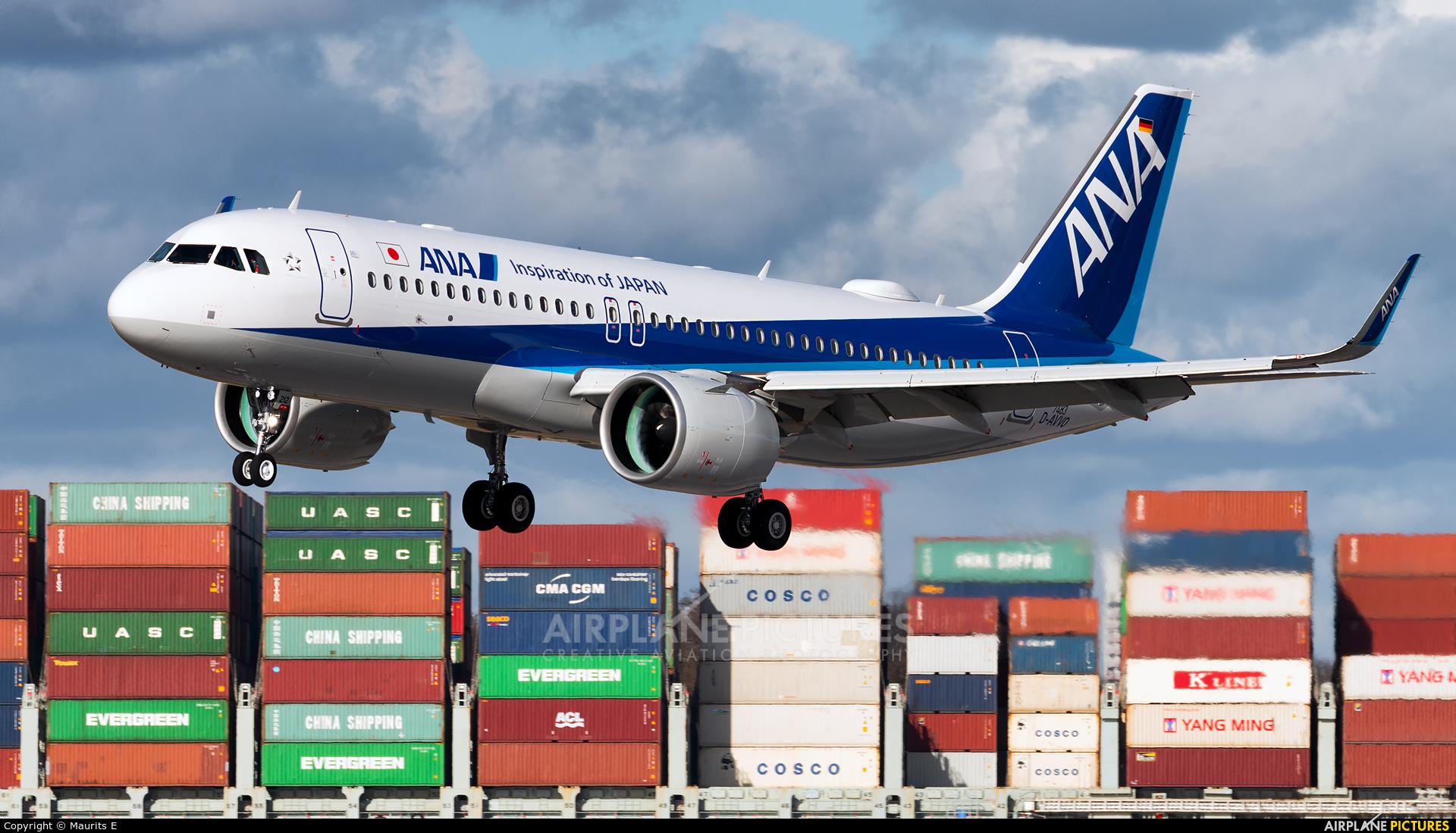 ANA - All Nippon Airways D-AVVO aircraft at Hamburg - Finkenwerder