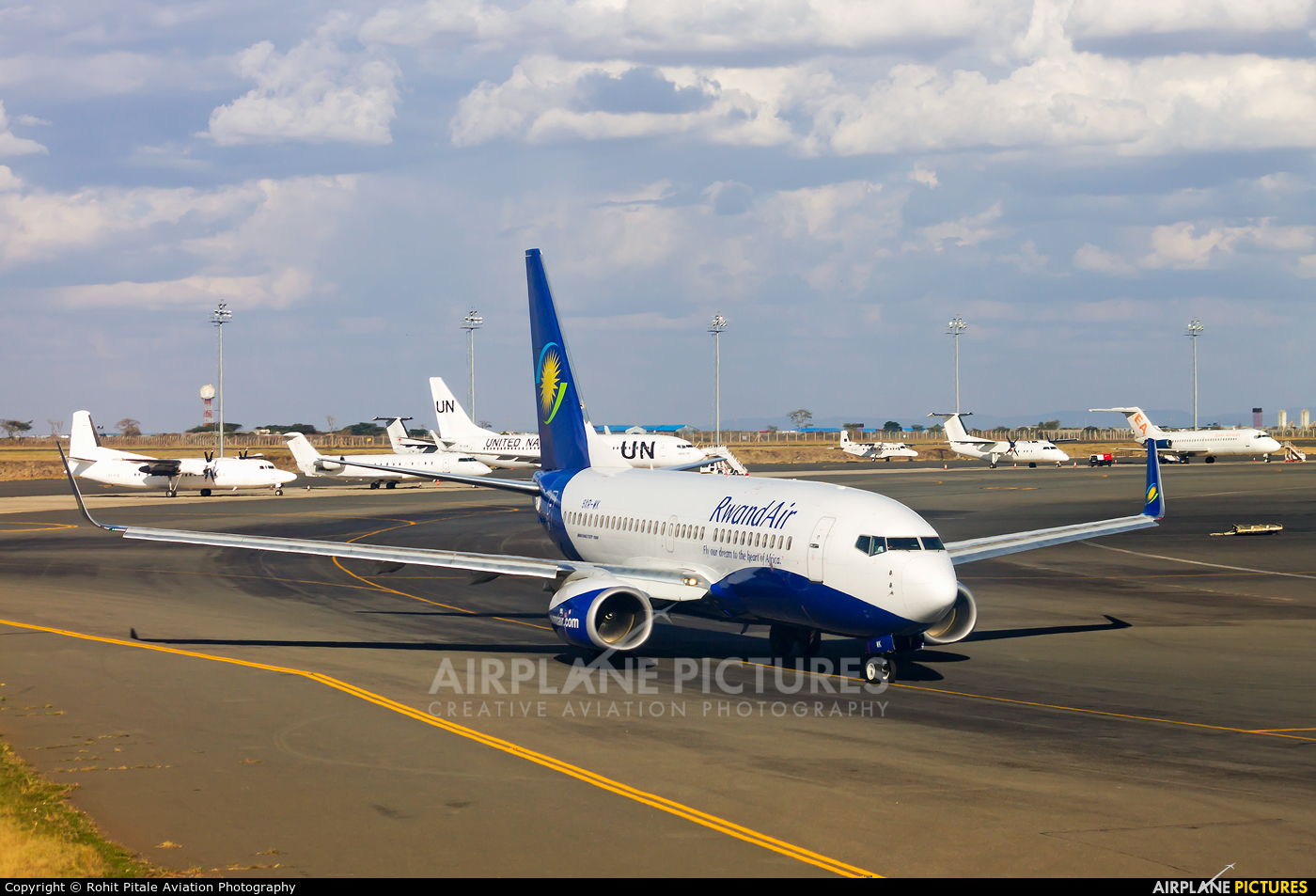 RwandAir 9XR-WK aircraft at Nairobi - Jomo Kenyatta