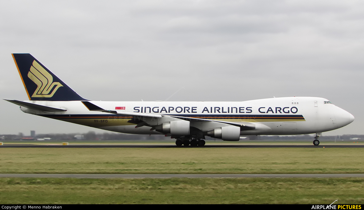 Singapore Airlines Cargo 9V-SFO aircraft at Amsterdam - Schiphol
