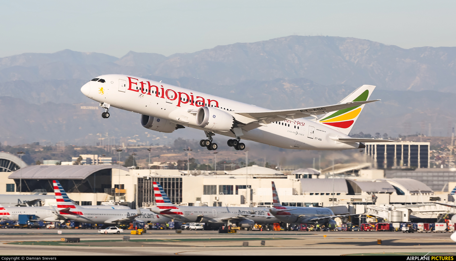 Ethiopian Airlines ET-ASG aircraft at Los Angeles Intl