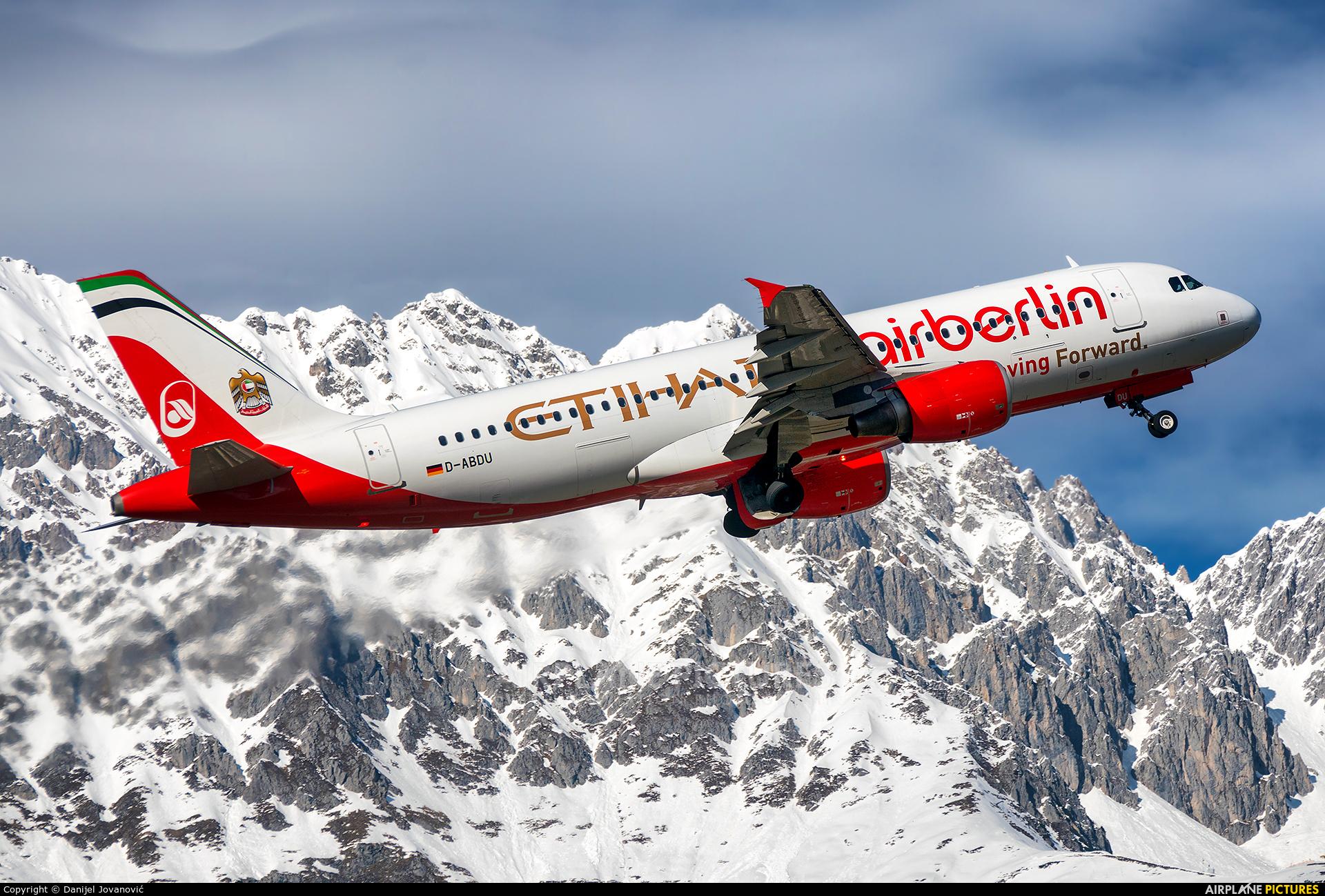 Air Berlin D-ABDU aircraft at Innsbruck