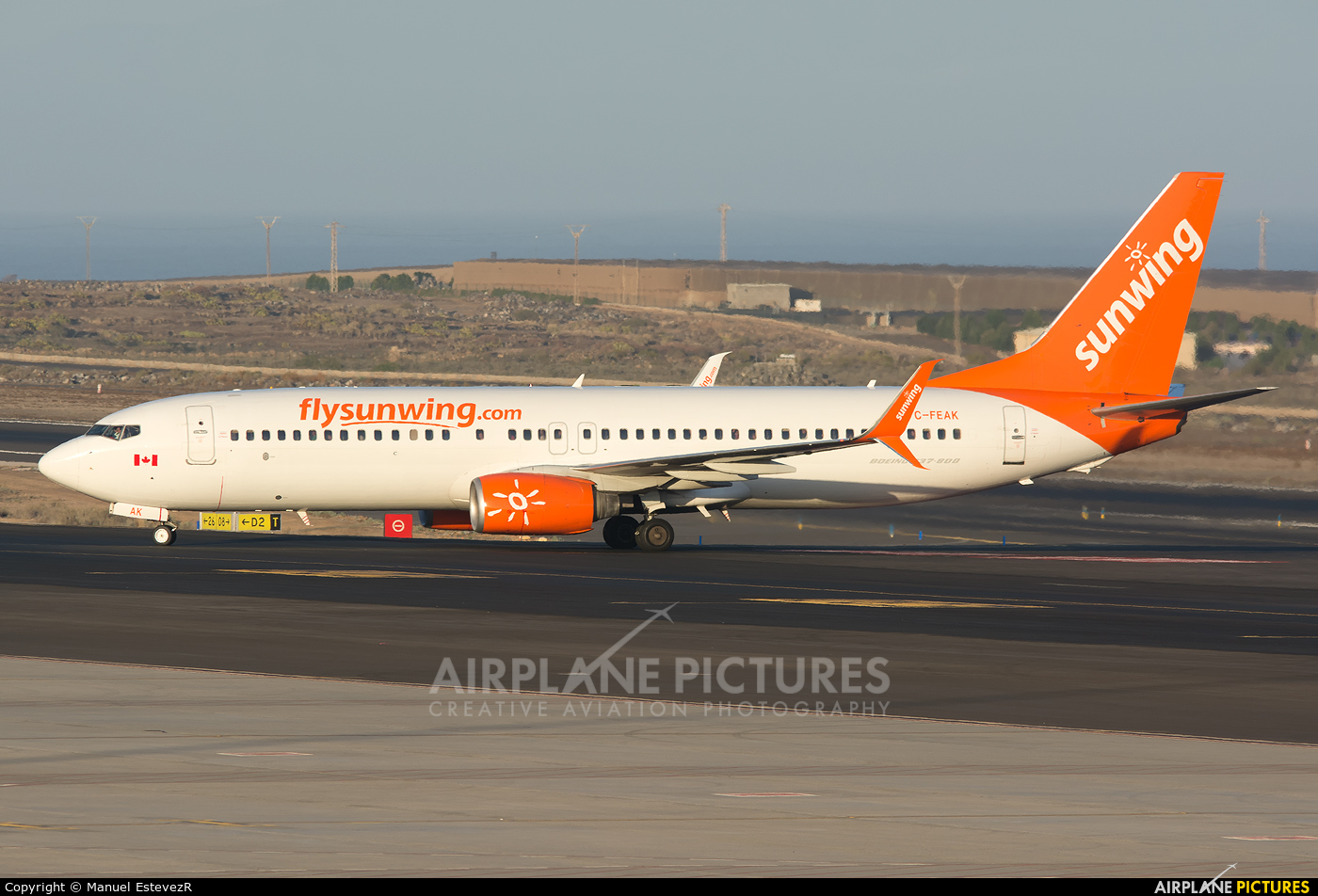 Sunwing Airlines C-FEAK aircraft at Tenerife Sur - Reina Sofia