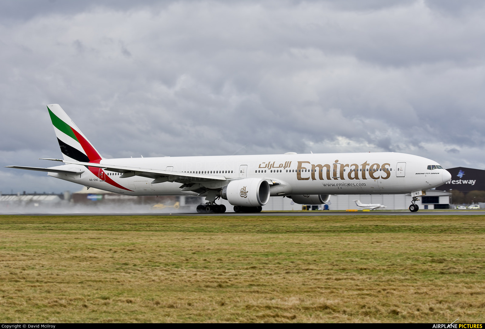 Emirates Airlines A6-ENC aircraft at Glasgow