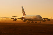 A6-EUP - Emirates Airlines Airbus A380 aircraft