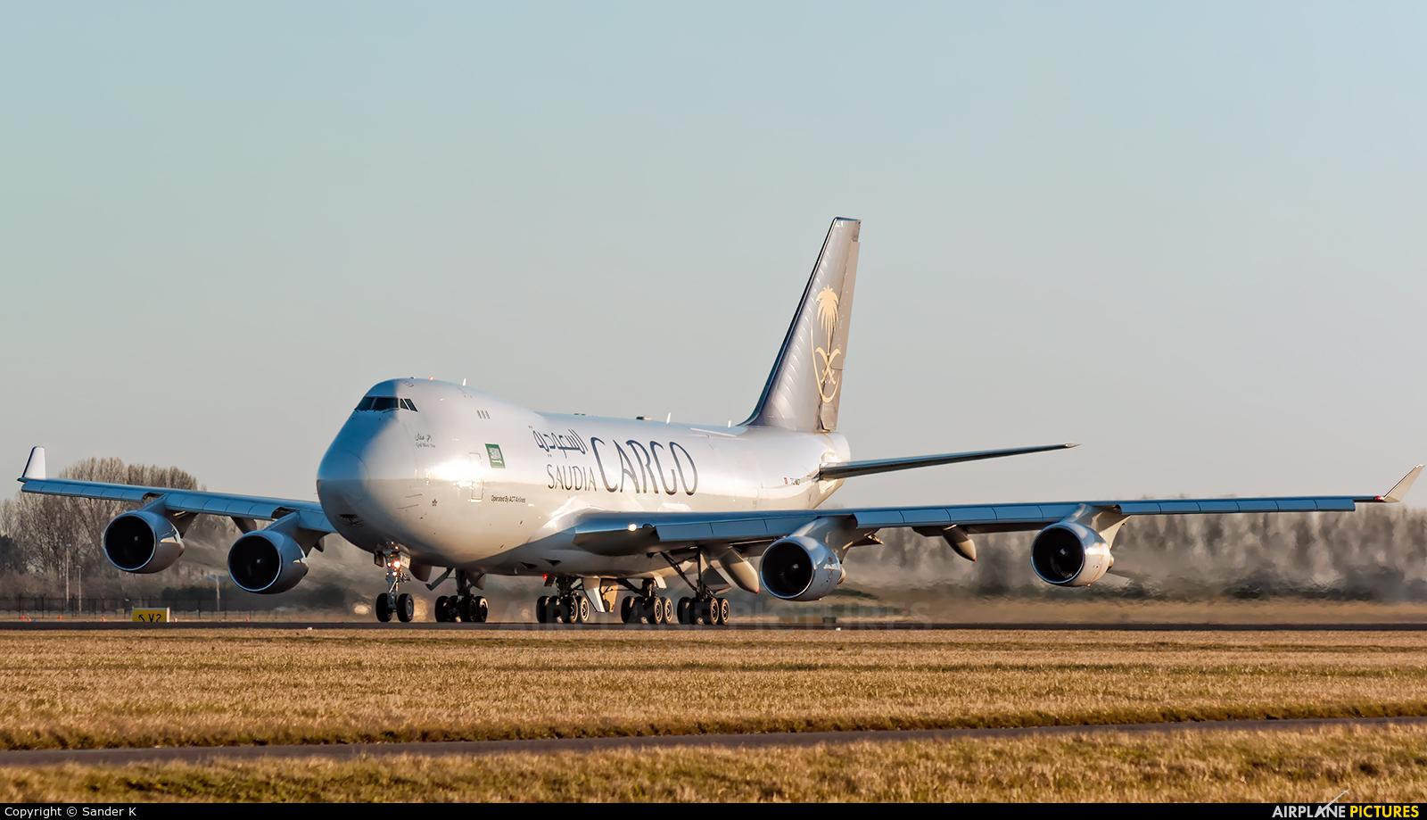 Saudi Arabian Cargo TC-MCT aircraft at Amsterdam - Schiphol