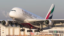 F-WWAF - Emirates Airlines Airbus A380 aircraft