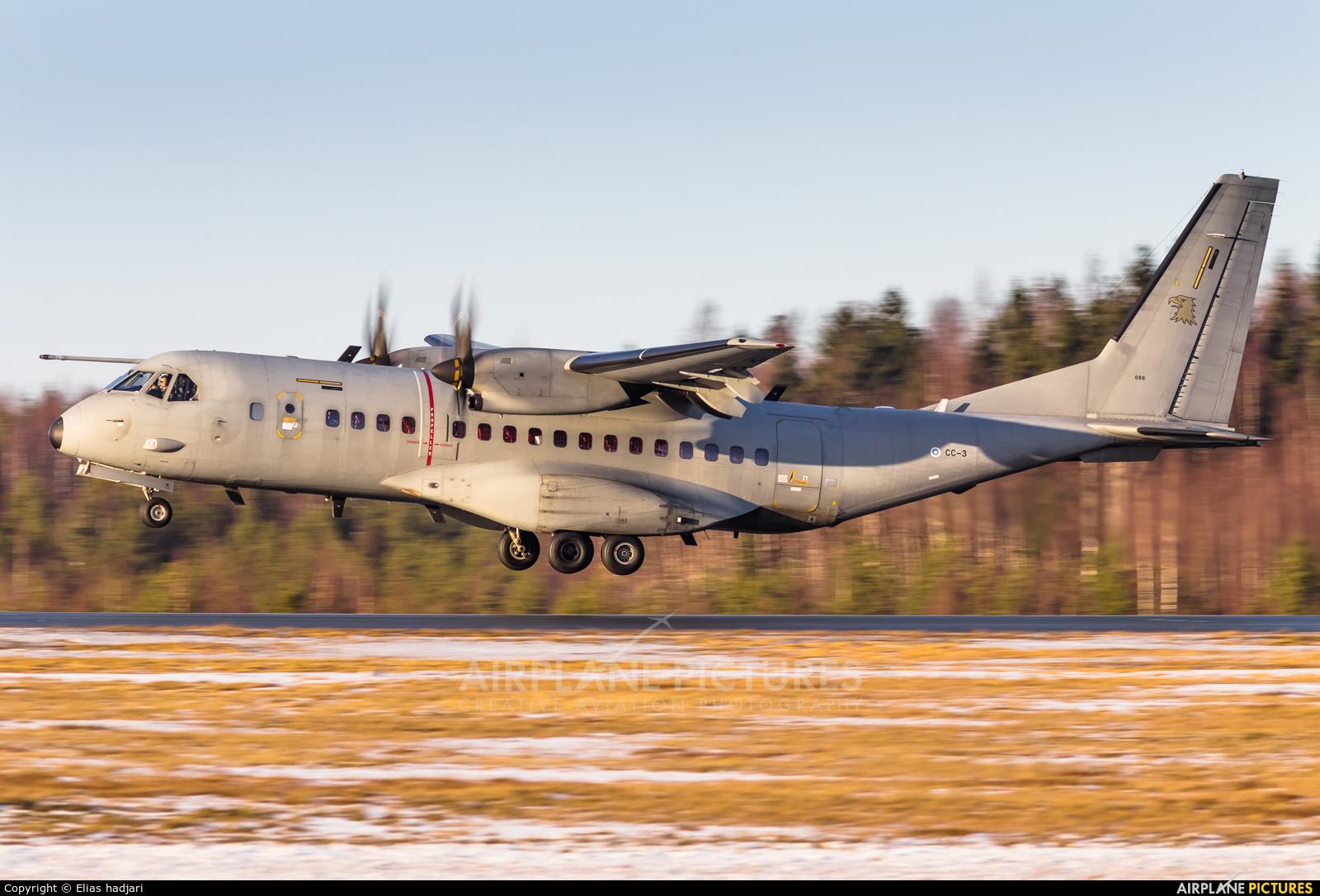 Finland - Air Force CC-3 aircraft at Helsinki - Vantaa