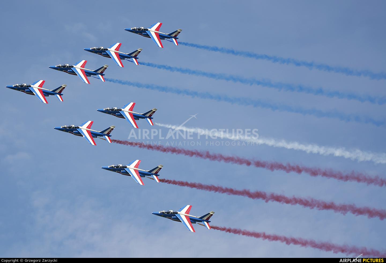 "France - Air Force ""Patrouille de France"" E46 aircraft at Zeltweg"