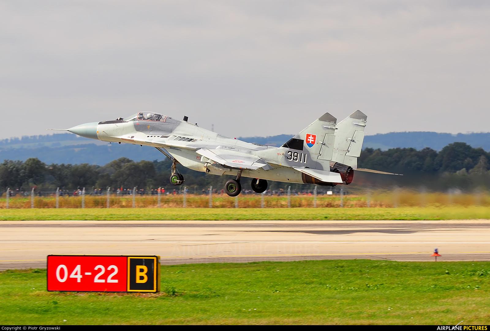 Slovakia -  Air Force 3911 aircraft at Ostrava Mošnov