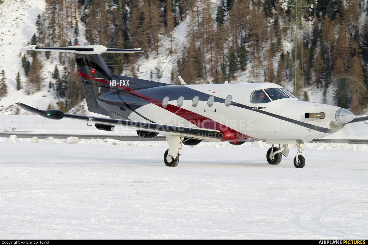 FLY 7 Executive Aviation SA HB-FXX aircraft at Samedan - Engadin