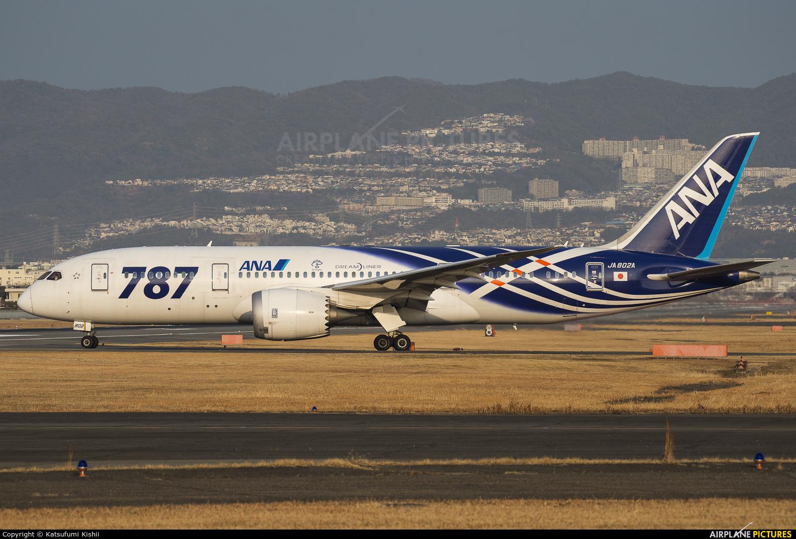 ANA - All Nippon Airways JA802A aircraft at Osaka - Itami Intl