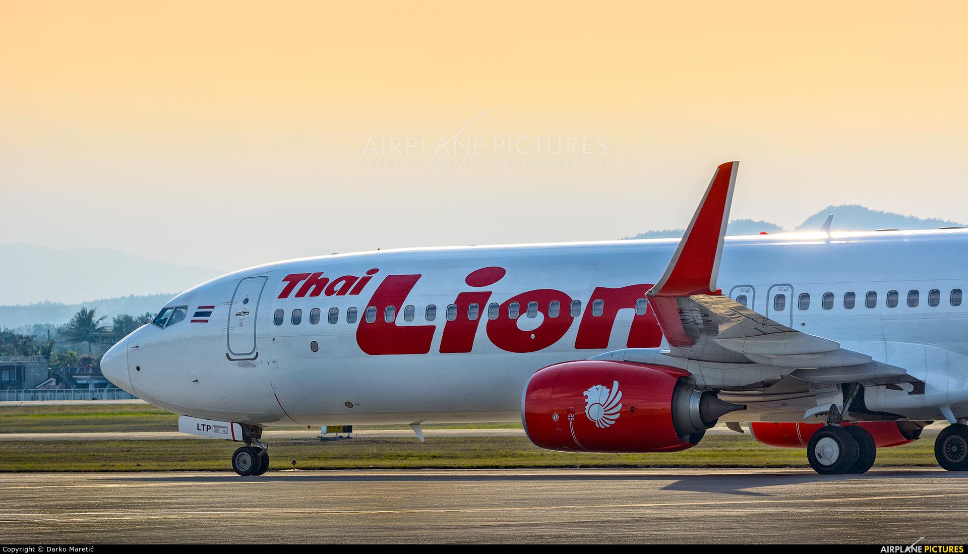 Thai Lion Air HS-LTV aircraft at Chiang-Mai