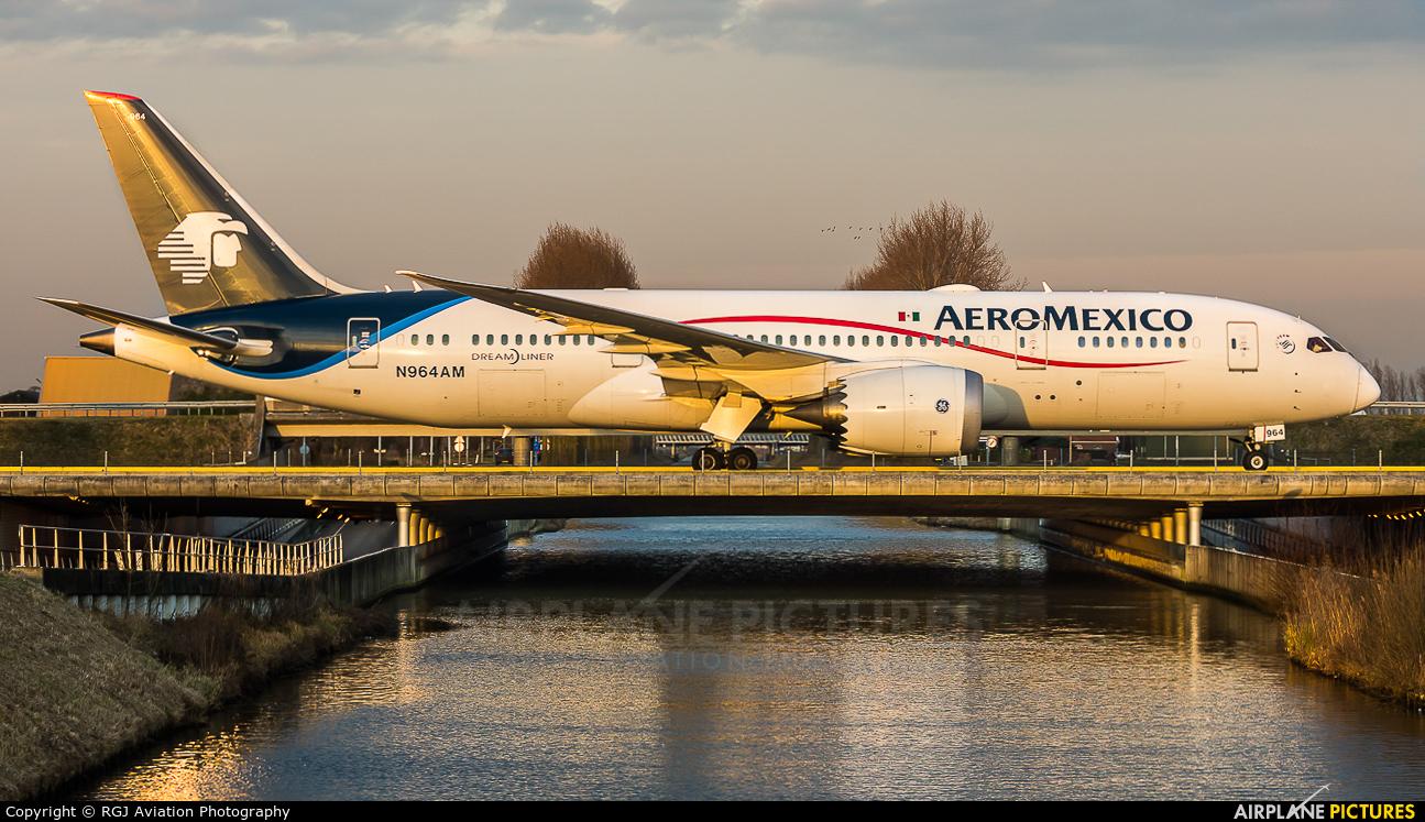 Aeromexico N964AM aircraft at Amsterdam - Schiphol